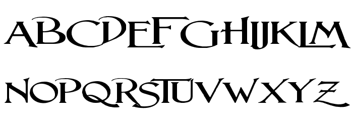 Lightfoot Wide Expanded Regular Font UPPERCASE