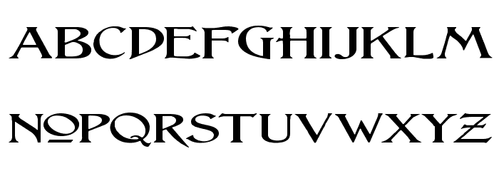 Lightfoot Wide Expanded Regular Font LOWERCASE
