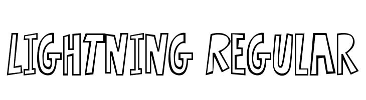 Lightning Regular  フリーフォントのダウンロード
