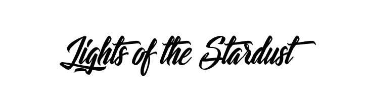 Lights of the Stardust  font caratteri gratis