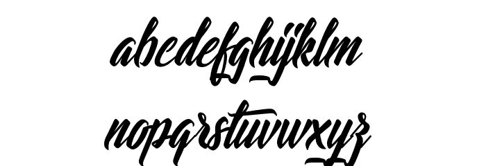 Lights of the Stardust Font LOWERCASE