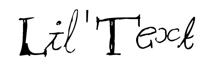 Lil'Text  Скачать бесплатные шрифты
