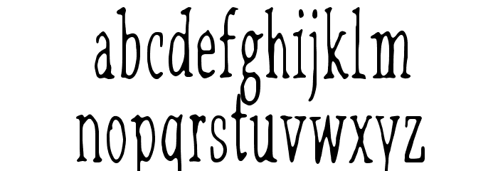 Lilith X Font LOWERCASE