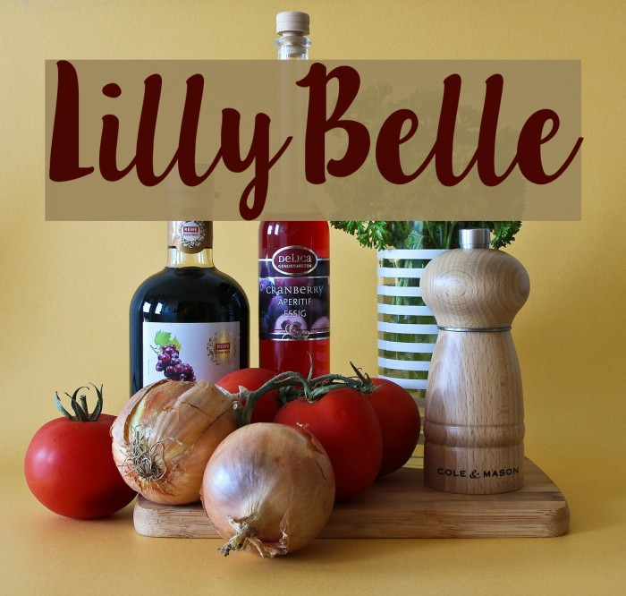 LillyBelle Font examples