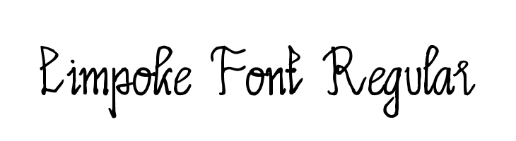 Limpoke Font Regular  Free Fonts Download