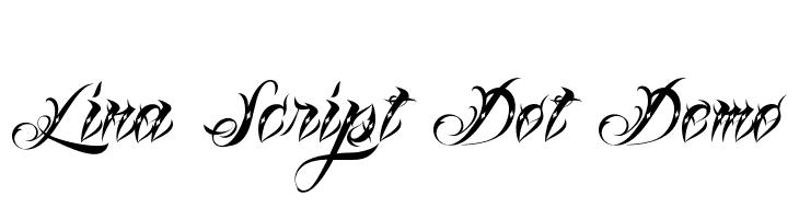 Lina Script Dot Demo Font