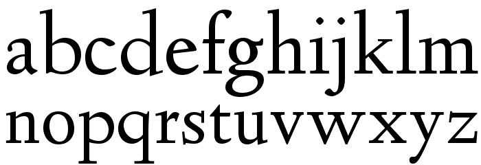 Linden Hill Font LOWERCASE