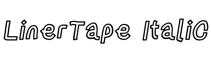 LinerTape Italic  नि: शुल्क फ़ॉन्ट्स डाउनलोड