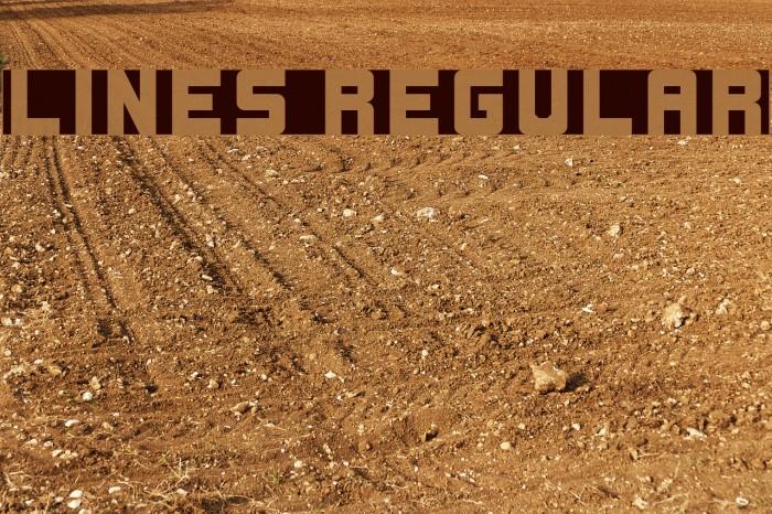 Lines Regular Font examples