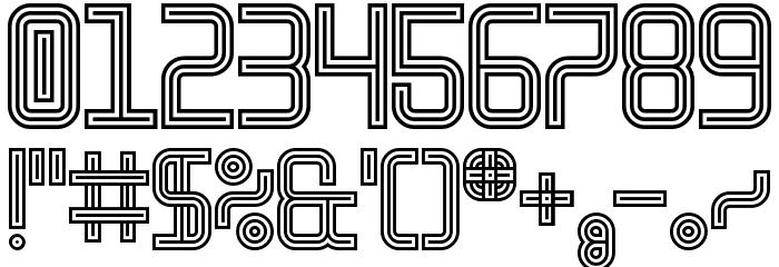 Linestrider Regular Font OTHER CHARS