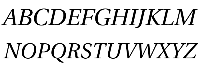 LinguisticsPro-Italic Fuentes MAYÚSCULAS