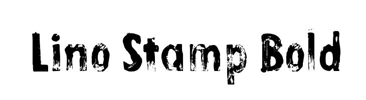 Lino Stamp Bold Font