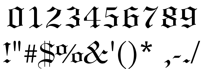 Linotext Font OTHER CHARS