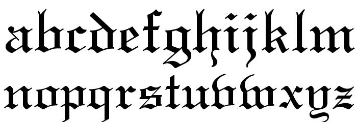 Linotext Font LOWERCASE