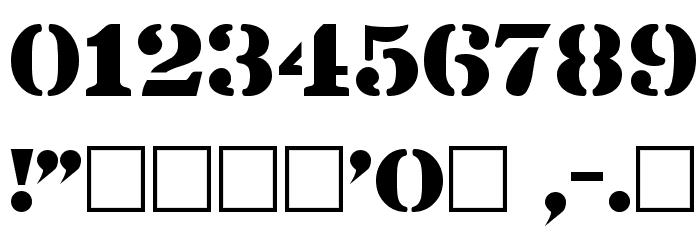 Lintsec Regular Font OTHER CHARS