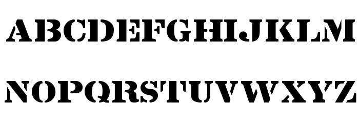 Lintsec Regular Font UPPERCASE