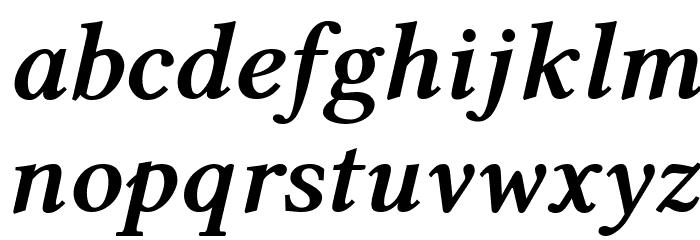 Linux Libertine Bold Italic Caratteri MINUSCOLO
