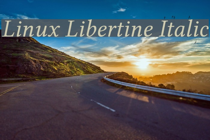 Linux Libertine Italic Font examples