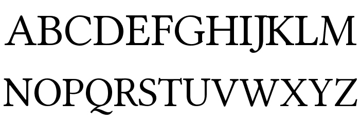 Linux Libertine Font UPPERCASE