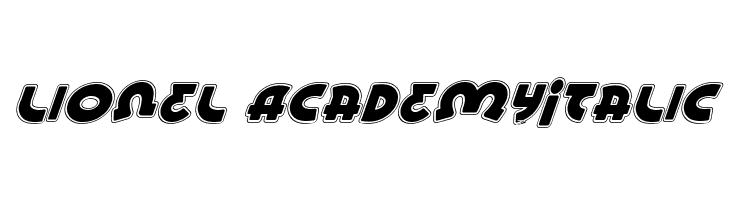 Lionel AcademyItalic  baixar fontes gratis