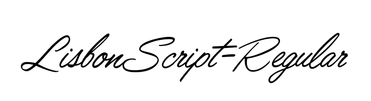 LisbonScript-Regular  لخطوط تنزيل