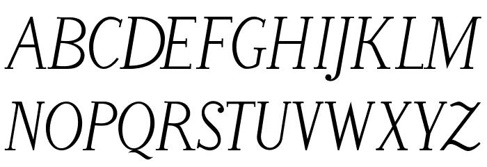 LitosScript-Italic फ़ॉन्ट अपरकेस