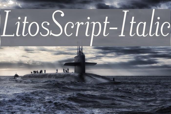 LitosScript-Italic फ़ॉन्ट examples