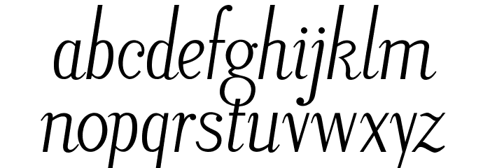 LitosScript-Italic फ़ॉन्ट लोअरकेस