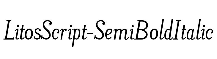 LitosScript-SemiBoldItalic  Free Fonts Download