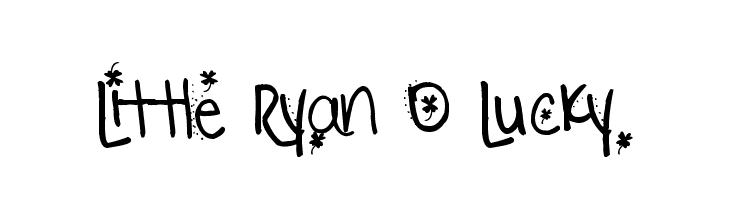 Little Ryan O Lucky  フリーフォントのダウンロード