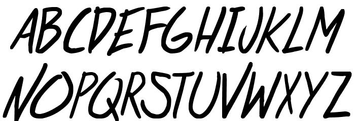 life signals Italic 字体 大写
