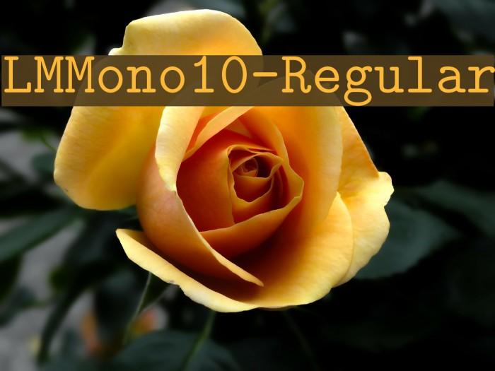 LMMono10-Regular Font examples