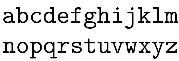 LMMono10-Regular Font LOWERCASE