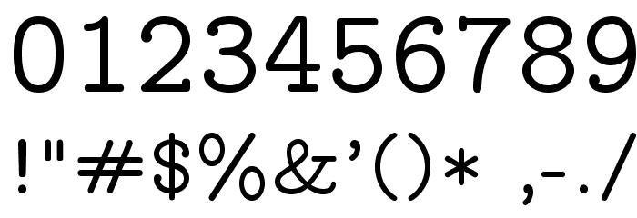LMMonoProp10-Regular Font OTHER CHARS