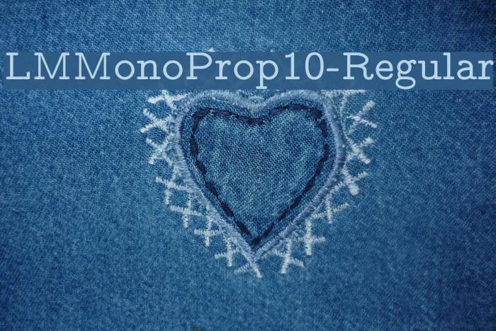 LMMonoProp10-Regular Font examples
