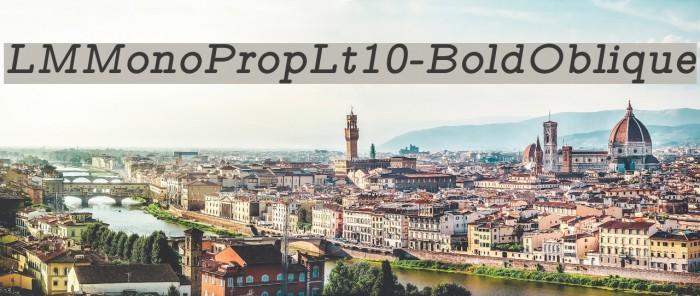 LMMonoPropLt10-BoldOblique Font examples