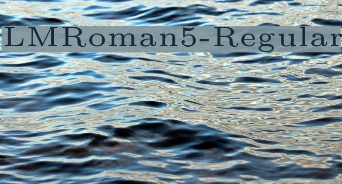 LMRoman5-Regular Font examples