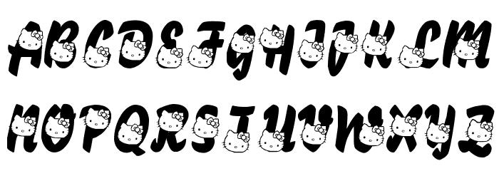 LMS Hello Kitty Hello 字体 大写