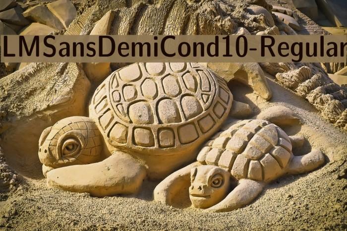 LMSansDemiCond10-Regular Font examples