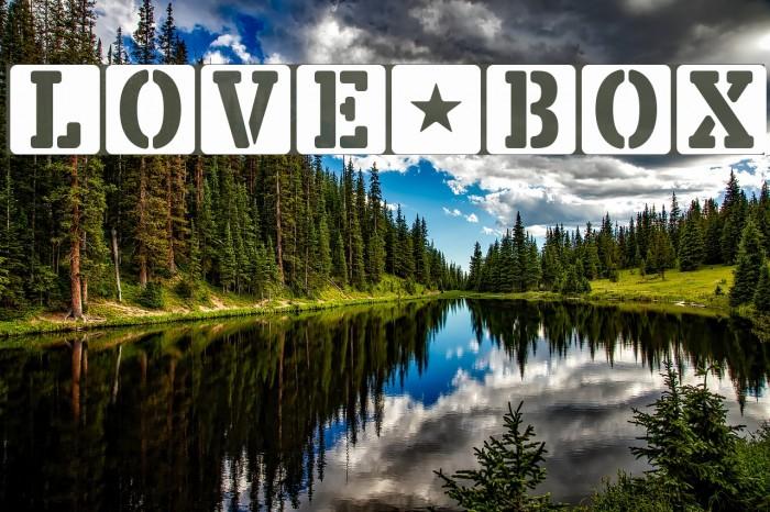 LOVE-BOX फ़ॉन्ट examples