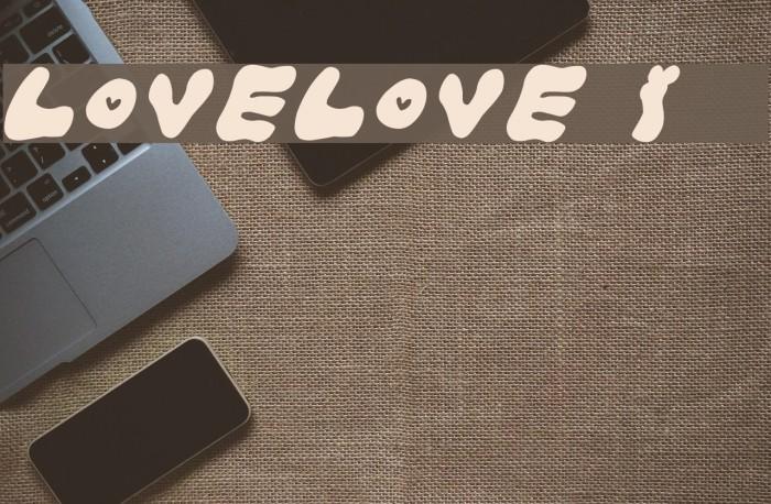 LOVELOVE_Iyan Font examples