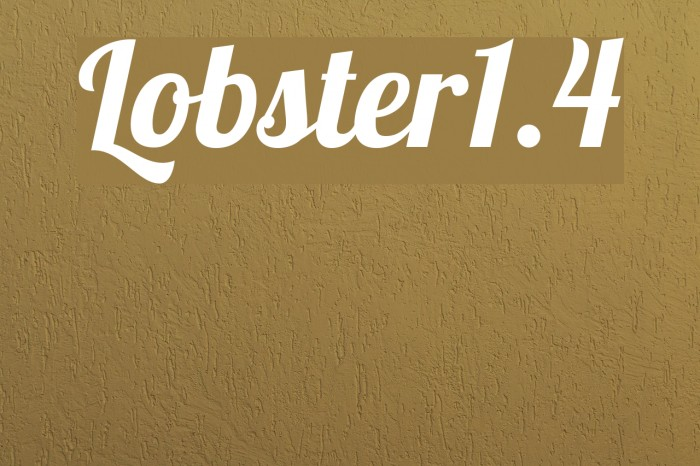 Lobster1.4 Font examples