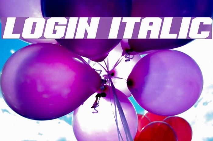 Login Italic Font examples