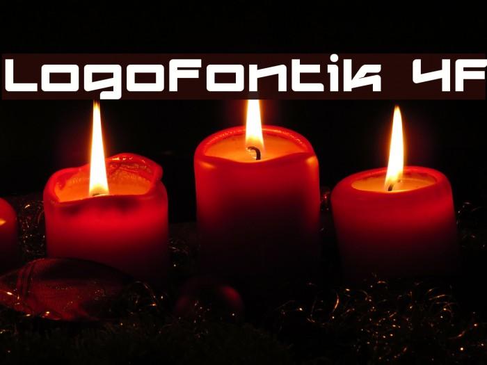 Logofontik 4F Fonte examples