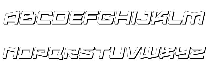 Logofontik Extruded 4F Italic Fonte MAIÚSCULAS