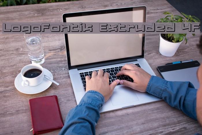 Logofontik Extruded 4F Fonte examples