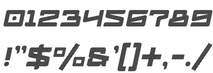 Logofontik Stripes 4F Italic Fonte OUTROS PERSONAGENS