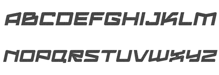 Logofontik Stripes 4F Italic Fonte MAIÚSCULAS
