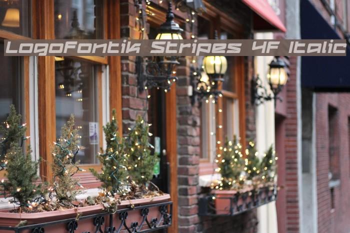 Logofontik Stripes 4F Italic Fonte examples