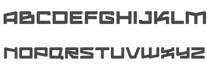 Logofontik Stripes 4F Fonte MAIÚSCULAS